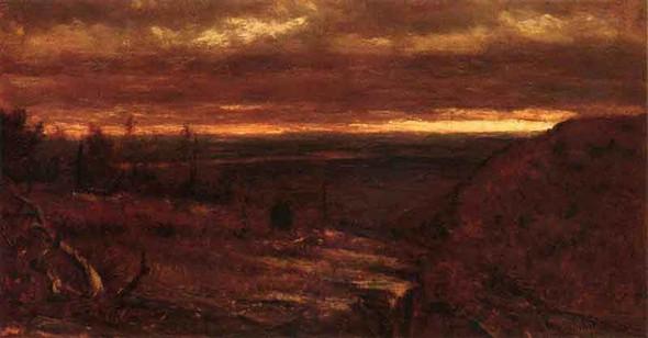 Landscape At Sunset By Thomas Worthington Whittredge