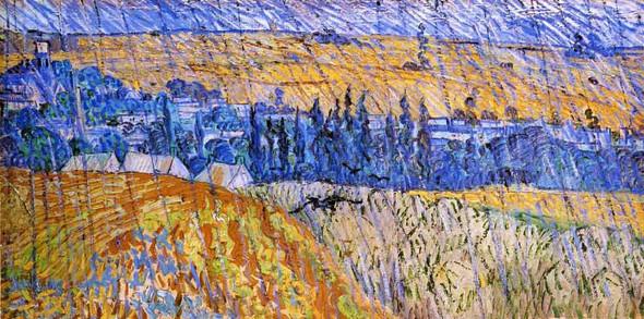 Landscape In The Rain By Vincent Van Gogh