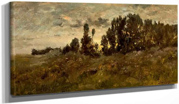 Landscape By Charles Francois Daubigny By Charles Francois Daubigny