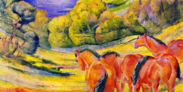 Large Landscape I By Franz Marc By Franz Marc