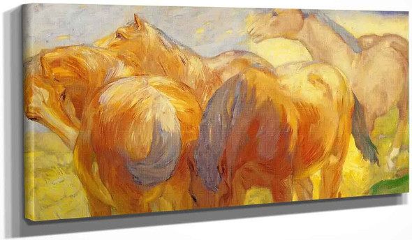 Large Lenggries Horse Painting By Franz Marc By Franz Marc