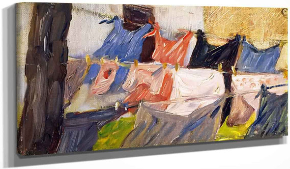 Laundry Fluttering In The Wind By Franz Marc By Franz Marc