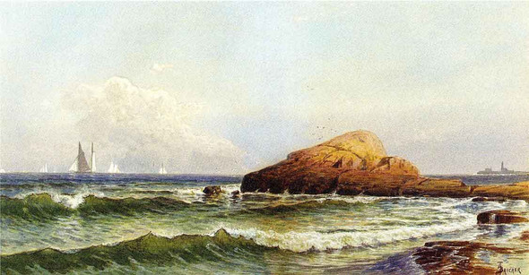 Little Bass Rock, Narragansett Pier By Alfred Thompson Bricher