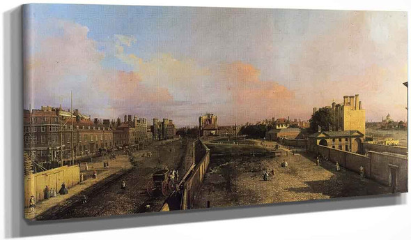 London Whitehall And The Privy Garden Looking North By Canaletto By Canaletto