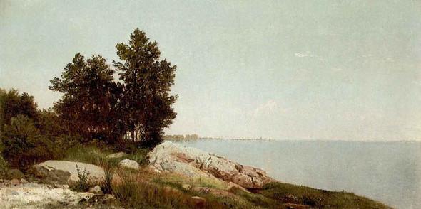 Long Island Sound At Dawn By John Frederick Kensett By John Frederick Kensett