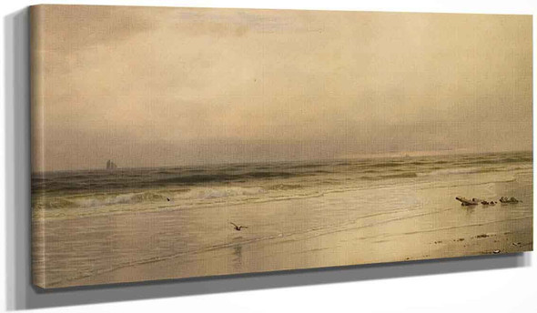 Low Tide On The Jersey Coast By William Trost Richards By William Trost Richards