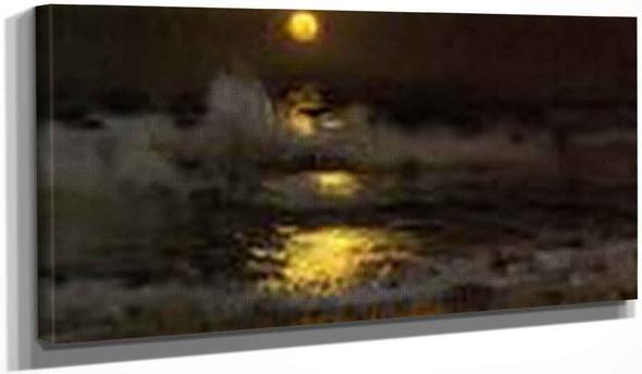 Moonlight By Frank W. Benson By Frank W. Benson
