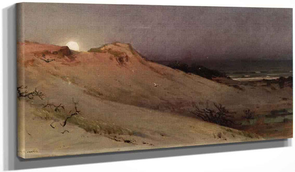 Moonrise Over The Dune By William Trost Richards By William Trost Richards