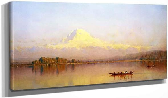 Mount Rainier, Bay Of Tacoma, Puget Sound By Sanford Robinson Gifford