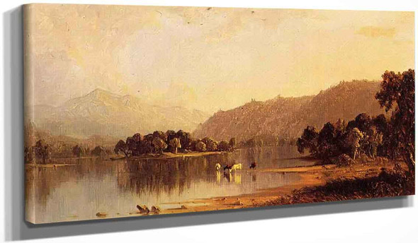 Mount Washington From The Saco River By Sanford Robinson Gifford
