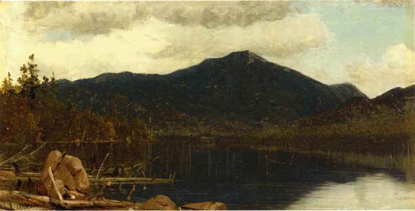 Mount Whiteface From Lake Placid By Sanford Robinson Gifford