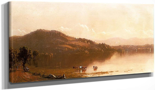 Mt. Merino On The Hudson Near Olana By Sanford Robinson Gifford