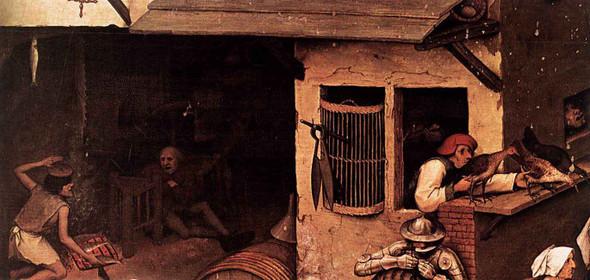 Netherlandish Proverbs  By Pieter Bruegel The Elder By Pieter Bruegel The Elder