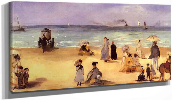 On The Beach At Boulogne1 By Edouard Manet