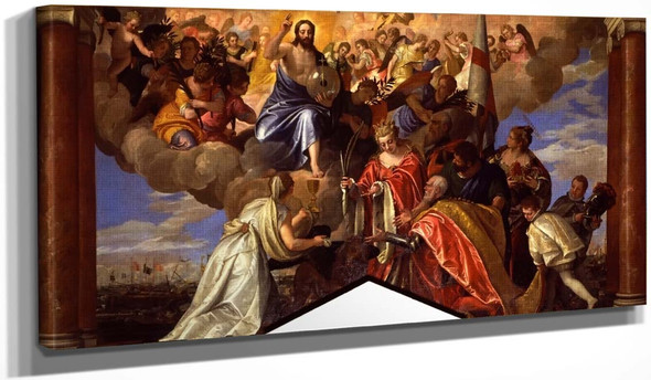 Palazzo Ducale  Sebastiano Venier Giving Thanks For The Victory Of Lepanto By Paolo Veronese