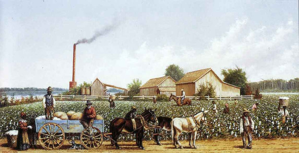 Plantation Wagon Scene By William Aiken Walker