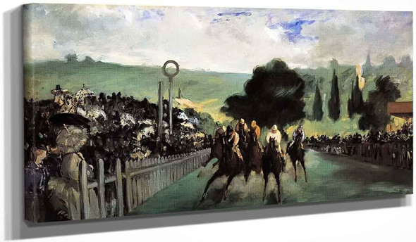 Races At Longchamp By Edouard Manet