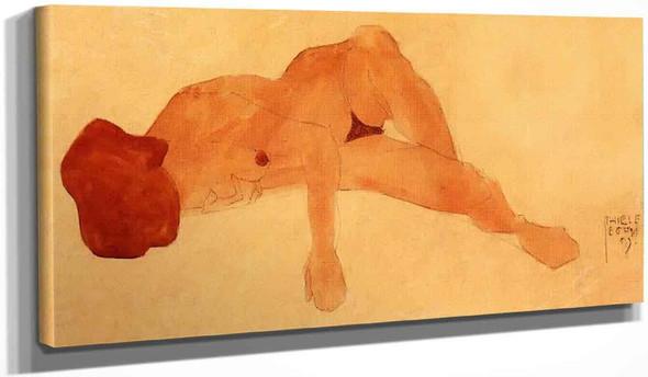 Reclining Female Nude 2 By Egon Schiele