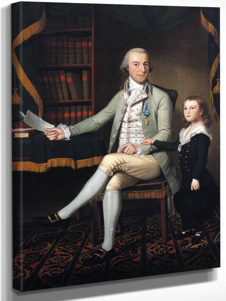 Colonel Benjamin Tallmadge And Son William Tallmadge By Ralph Earl
