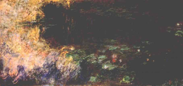 Reflections Of Clouds On The Water Lily Pond (Tryptich, Right Panel) By Claude Oscar Monet(French, 1840 1926)