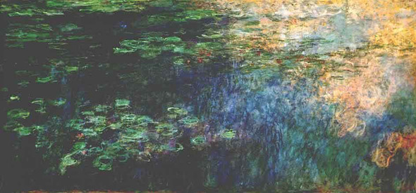 Reflections On The Water By Claude Oscar Monet