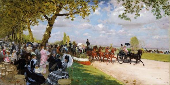 Return From The Races By Giuseppe De Nittis By Giuseppe De Nittis