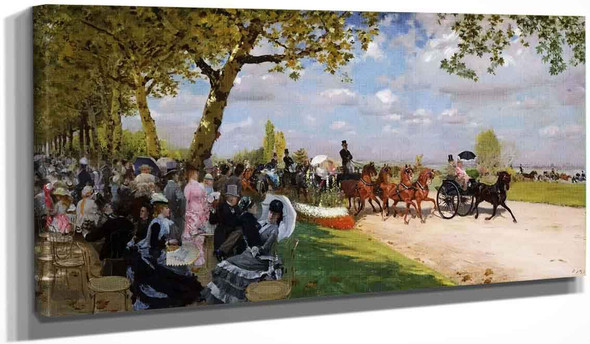 Return From The Races By Giuseppe De Nittis By Giuseppe De Nittis