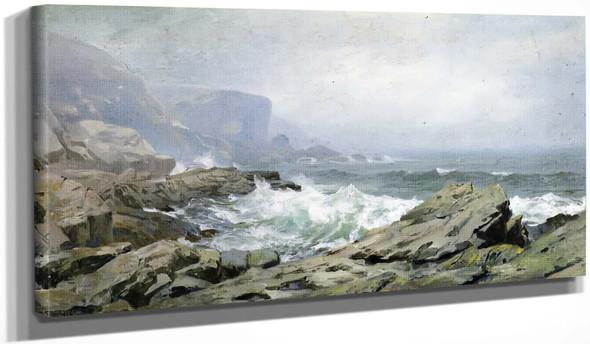 Rocky Coast, Cornwall By William Trost Richards By William Trost Richards