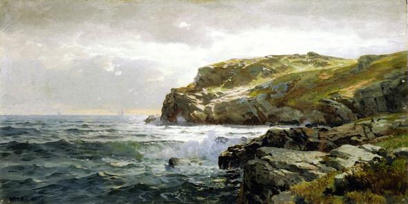 Rocky Coastline By William Trost Richards By William Trost Richards