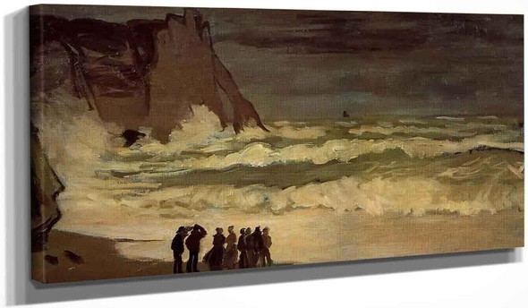 Rough Sea At Etretat By Claude Oscar Monet