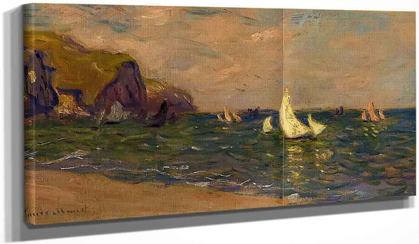 Sailboats At Sea, Pourville By Claude Oscar Monet