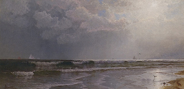 Seascape At Dusk By Alfred Thompson Bricher