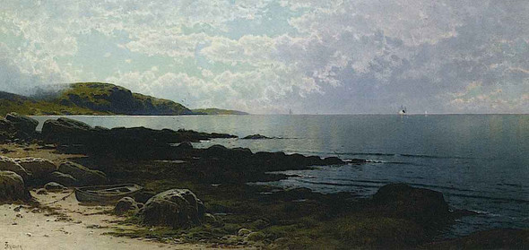Seascape With Boat By Alfred Thompson Bricher