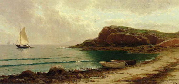 Seascape With Dories And Sailboats By Alfred Thompson Bricher