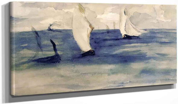 Seascape With Sailing Ships By Edouard Manet