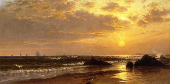 Seascape With Sunset By Alfred Thompson Bricher