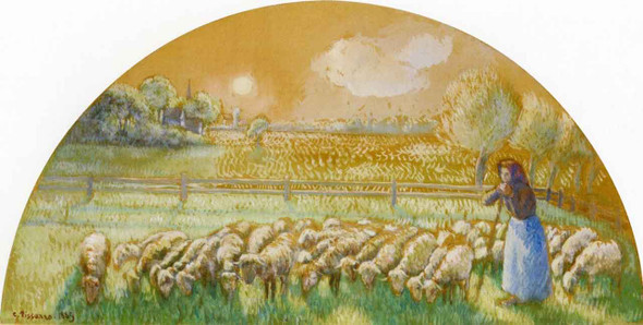 Shepherdess By Camille Pissarro