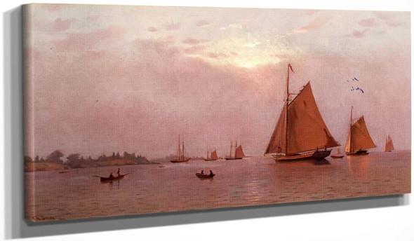 Ships Becalmed By Francis A. Silva