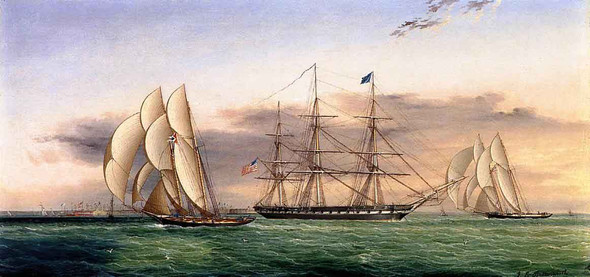 Ships Off Castle Garden By James E. Buttersworth