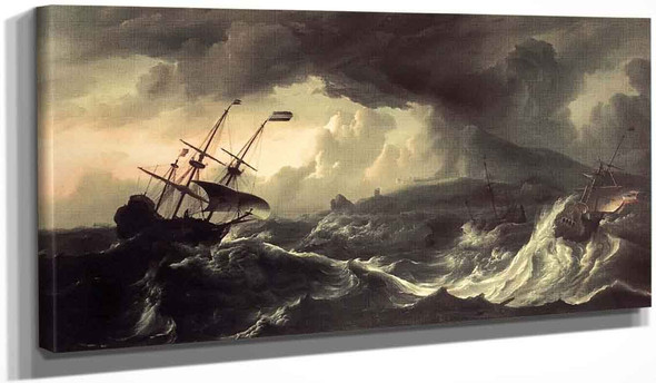 Ships Running Aground In A Storm By Ludolf Bakhuizen, Aka Ludolf Backhuysen By Ludolf Bakhuizen