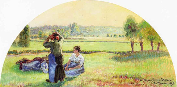 Siesta In The Fields By Camille Pissarro