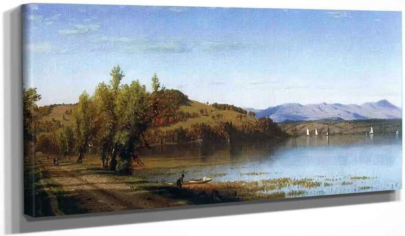 South Bay, On The Hudson, Near Hudson, New York By Sanford Robinson Gifford