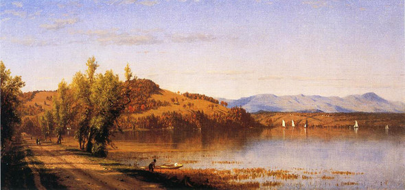 South Bay On The Hudson By Sanford Robinson Gifford