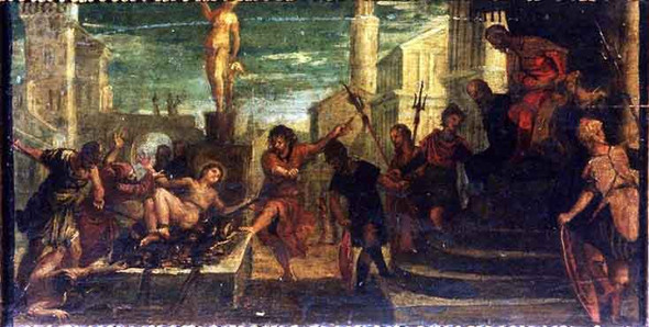 St Lawrence Altarpiece  The Torture Of St. Lawrence By Paolo Veronese