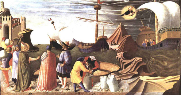 St Nicholas Saves The Ship  By Fra Angelico