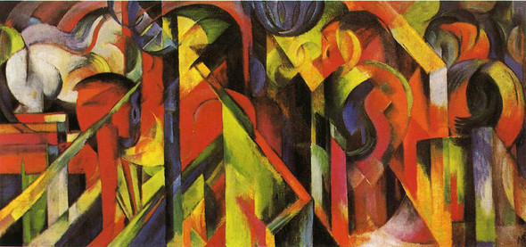 Stables1 By Franz Marc By Franz Marc