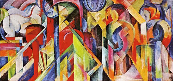 Stables By Franz Marc By Franz Marc
