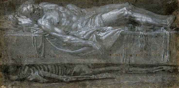 Study Of A Dead Christ By Paolo Veronese