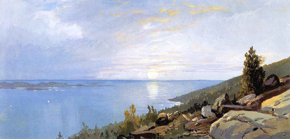 Sunrise Over Schoodic By William Trost Richards By William Trost Richards