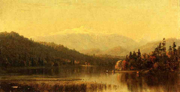 Sunset In The White Mountains By Sanford Robinson Gifford